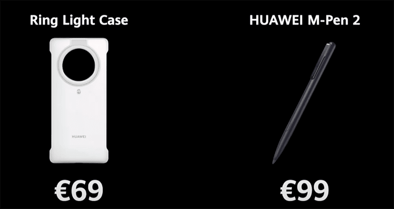 Ring light case and Huawei M-Pen