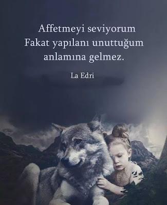 """""""Affetmeyi seviyorum fakat yapılanı unuttuğum anlamına gelmez."""" (La Edri), güzel sözler, özlü sözler, anlamlı sözler, günün sözü, sözün özü, kurt, bozkurt, kız, kız çocuğu, hayvan sevgisi,"""