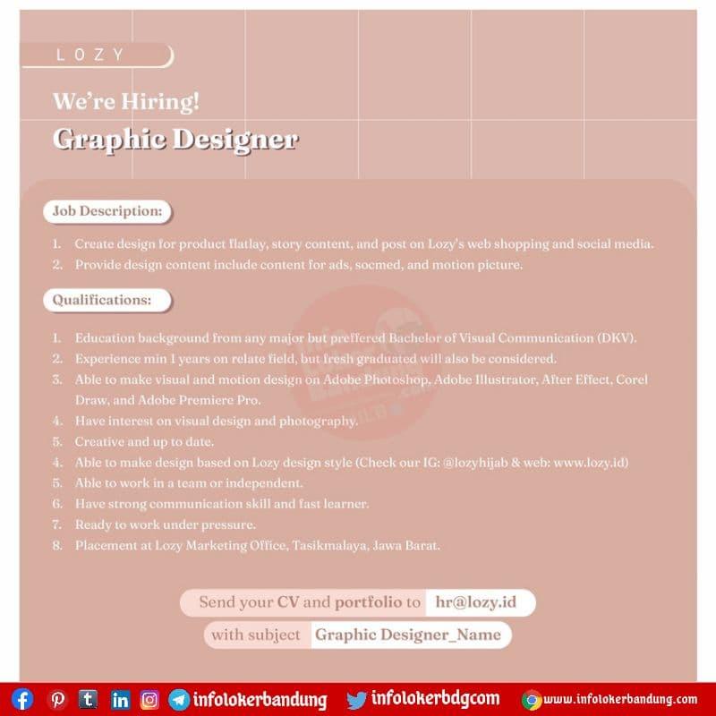 Lowongan Kerja Graphic Lozy.Id Bandung Agustus 2021