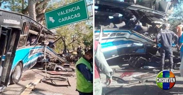 Ya van 7 muertos y 40 heridos tras escachaparse un autobús repleto en Tinaquillo
