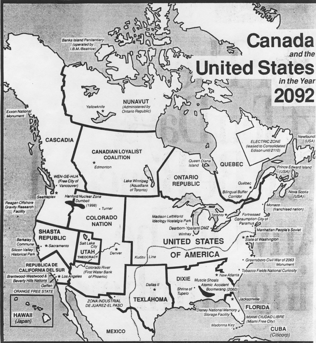 Canada & the United States in the year 2092