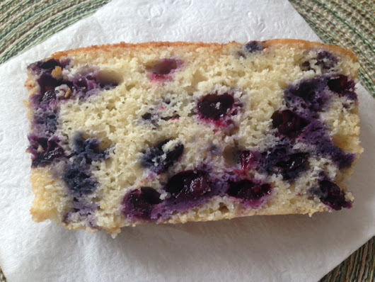 Glazed Lemon Blueberry Tea Bread