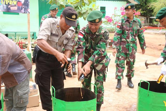 Lagi, 1.236 Botol Miras Ilegal Dimusnahkan Satgas Yonif MR 411 Kostrad
