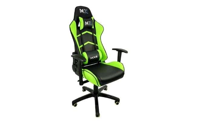 Cadeira Gamer MX5 Giratoria Mymax Preto e Verde