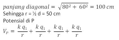 Rumus potensial listrik sistem muatan