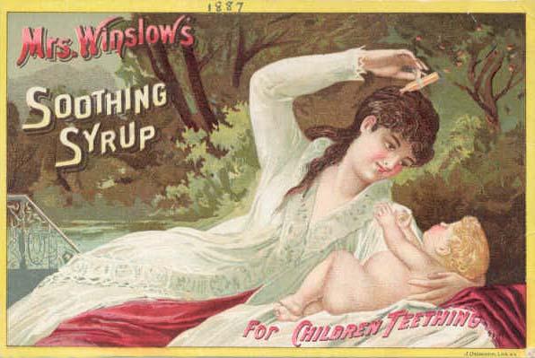 Διαφήμιση: Κλαίει το μωρό σας; ~ Δώστε του... μορφίνη!