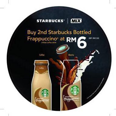 Second Starbucks Bottled Frappuccino RM6 Discount Promo