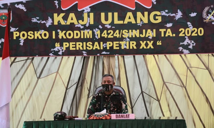 Danrem Brigjen TNI Djashar, Pimpin Penutupan/Kaji Ulang Latihan Posko I Kodim 1424/Sinjai