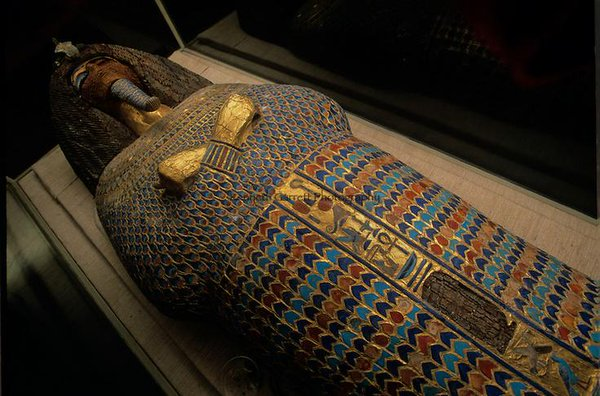 The coffin from KV55