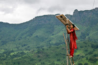 Solar maintanance in Tinginaput, India. (Credit: UK Department for International Development/flickr) Click to Enlarge.