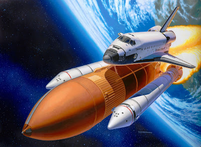 Space Shuttle Discovery + Booster Rockets from Revell