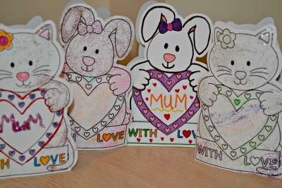 Mothers DAy arts and crafts from baker ross. Home made mothers day cards