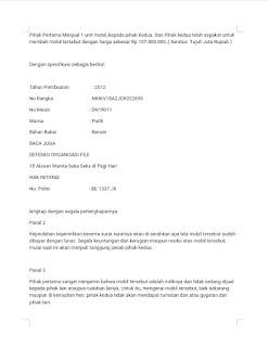 contoh surat perjanjian jual beli mobil  halaman 2