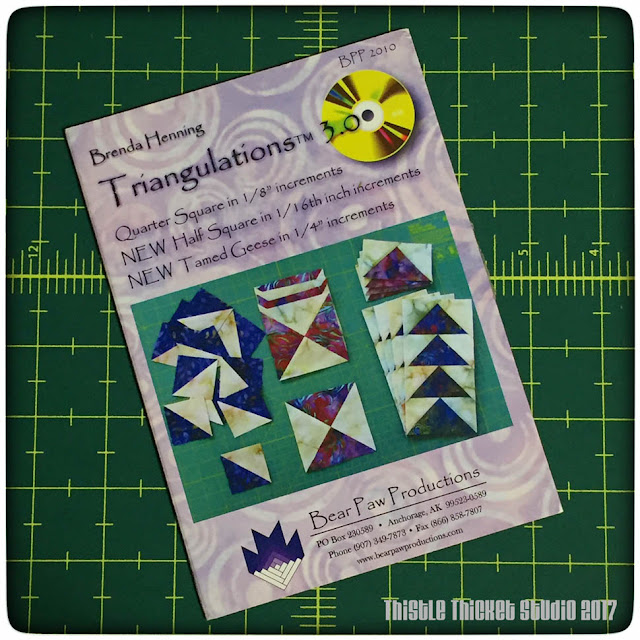 thistle thicket studio, Brenda Henning, triangulations, sewing, quilting, paper piecing, flying geese, half square triangles
