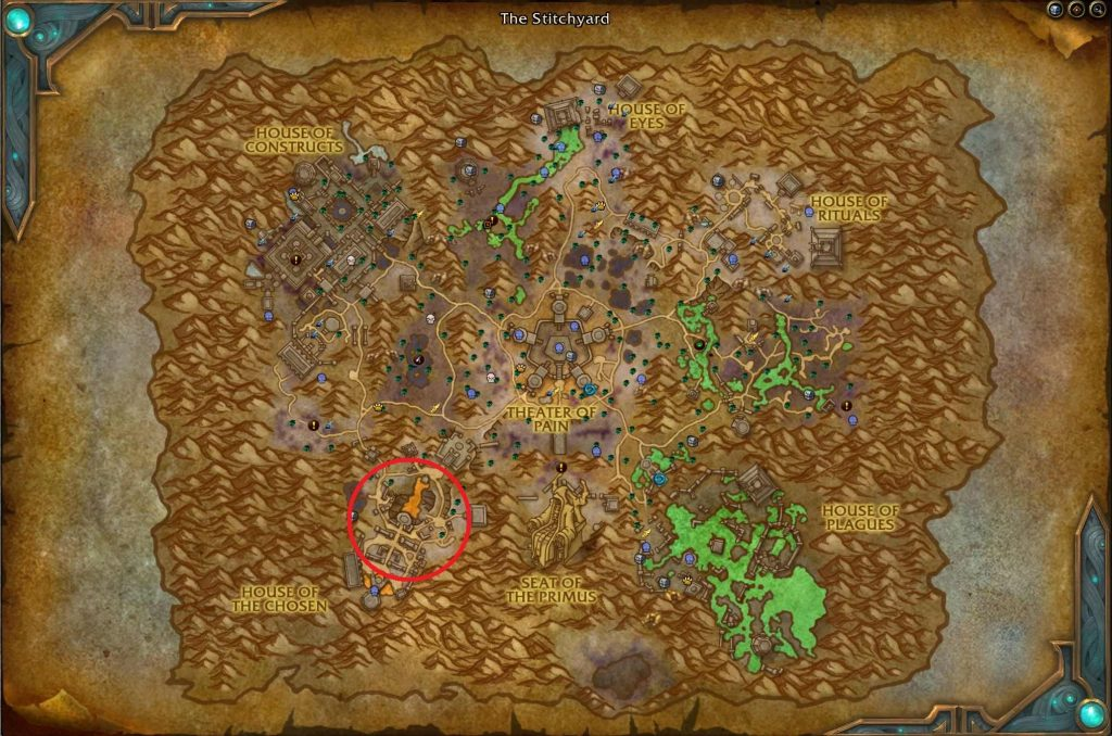 If the world quest is active, you can find it in the area marked here.