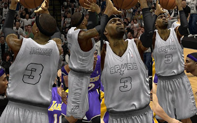 NBA 2K13 San Antonio Spurs Fictional Christmas Jersey