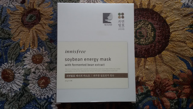 Листовая маска Innisfree Soybean Energy Mask: ферменты спешат на помощь
