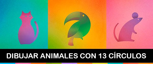 Dibujar animales con 13 circulos