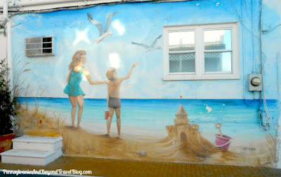Beach Life Outdoor Wall Mural in Wildwood New Jersey