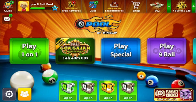 Goa Gajah Win Streak 8 Ball Pool