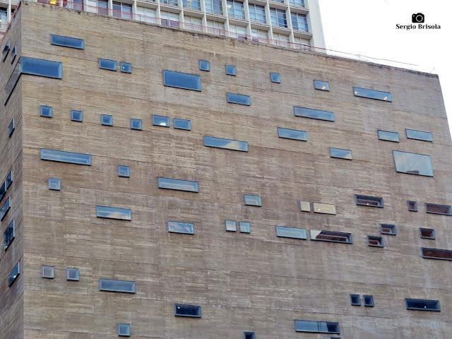 Vista da fachada do anexo novo da Praça das Artes - Centro - São Paulo