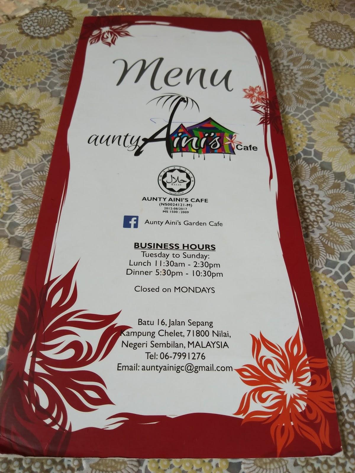Salam Sharing My Travel Experience Aunty Aini S Garden Cafe