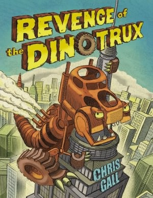 Revenge of the Dinotrux by Chris Gall gets 4 out of 5 stars.  It's a great book little boys (toddlers, preschoolers, kindergartner, first and second grader) will love.  I like this sequel better than the first.  Fun story, and a good read aloud in the classroom, library, or at home.  Alohamora Open a Book http://www.alohamoraopenabook.blogspot.com/