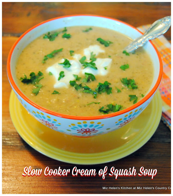 Slow Cooker Cream of Squash Soup at Miz Helen's Country Cottage