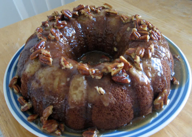 Pear Spice Cake with Pecan Praline Topping by freshfromthe.com
