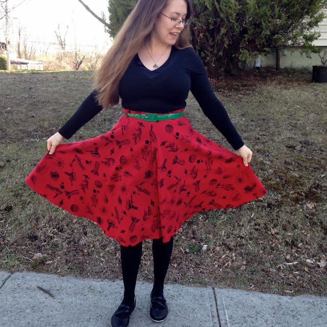 rocket print skirt