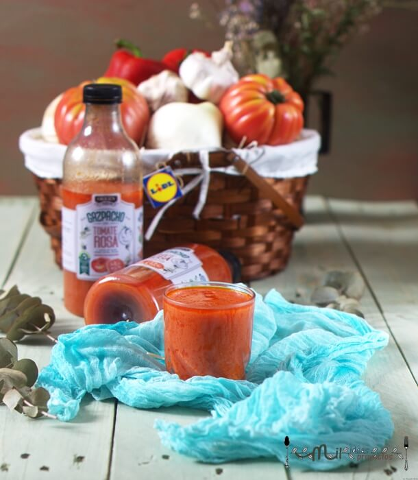lidl pone a la venta el primer gazpacho con tomate rosa