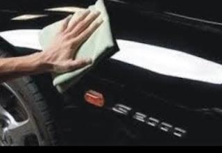 cara mengkilapkan mobil hitam