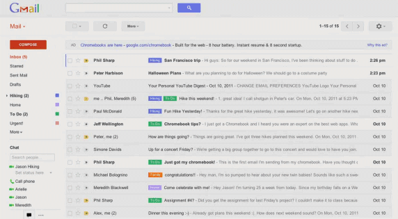 New Gmail Inbox