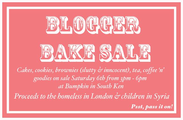 BLOGGER BAKE SALE!!! The London Adventuress
