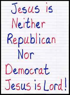 God not Republican or Democrat