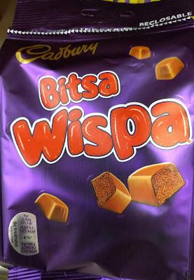 Cadbury Bitsa wispa chocolate