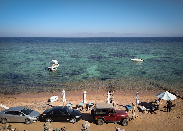 The black one, in the middle; Dahab, Egypt