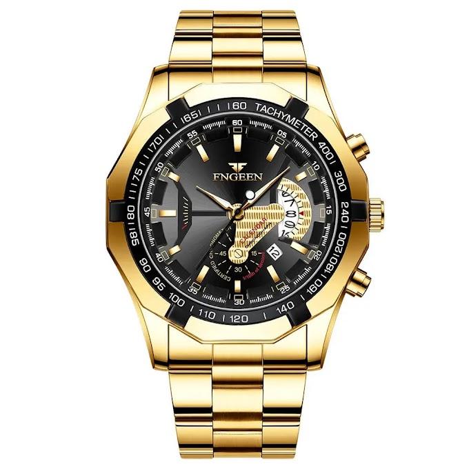 Relógio FNGEEN S001 Silver Black Gold