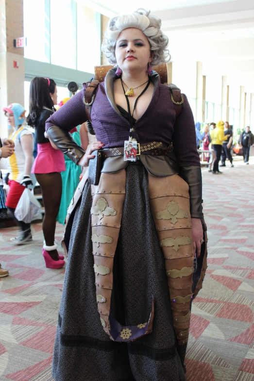 Steampunk octopus tentacles complete the costume. Villain to ariel the little mermaid.