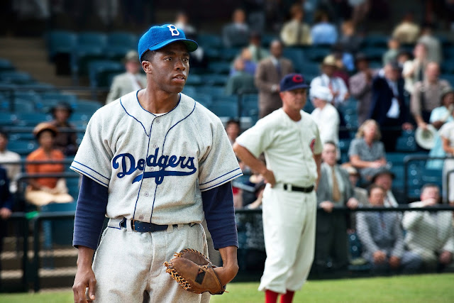 "In the movie ""42,"" Mr. Boseman played Jackie Robinson, the first Black player in Major League Baseball.Credit...D. Stevens/Warner Bros. Pictures, via Associated Press"
