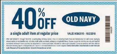Old navy online coupon june 2018