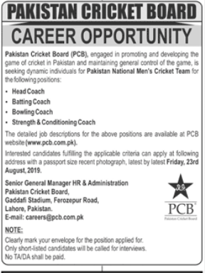Advertisements for PCB Jobs August 2019
