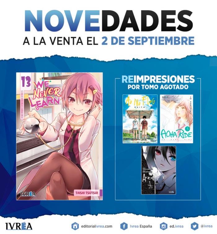 Novedades Ivrea 2 de septiembre 2021 - manga