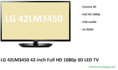 LG 42LM3450 3D LED TV