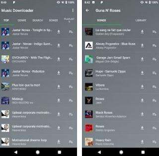 aplikasi download musik mp3 terbaik dan gratis di android-music downloader song