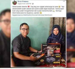 Seorang Gamer Lamar Kekasihnya dengan Seperangkat Komponen PC Gaming
