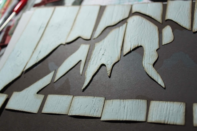 Alpine Faux Wood Planks Page Project #clubscrap #hike #mountain #brotherscanncut2 #embossingfolder