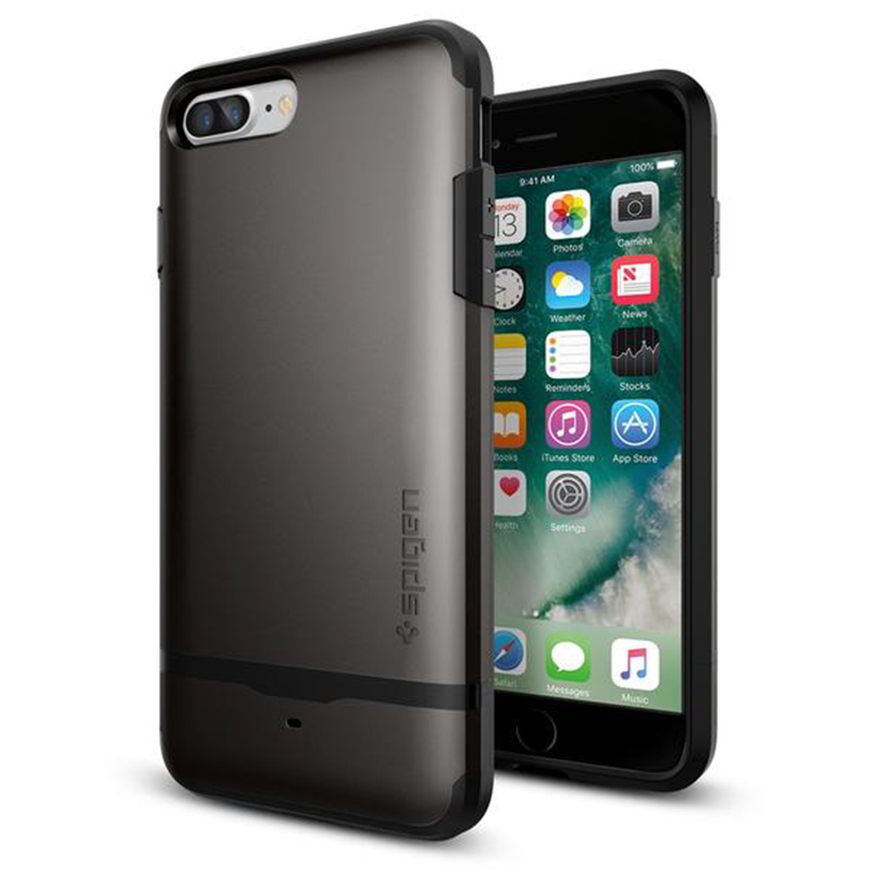 iPhone 7 Plus render with Spigen case