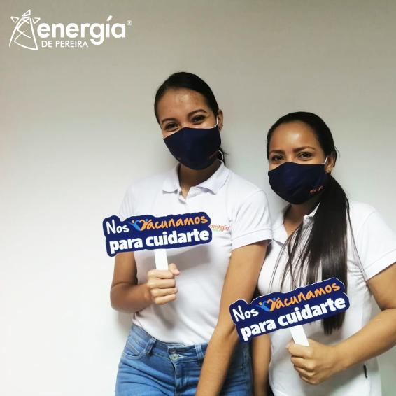 Energía de Pereira inició la vacunación de sus colaboradores en Cartago
