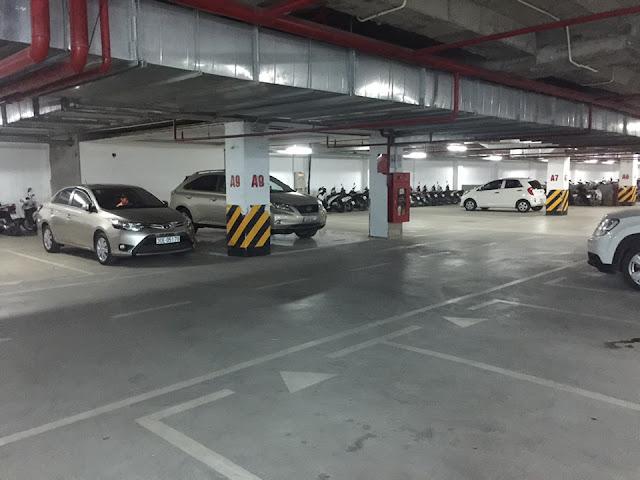 Không gian hầm để xe thông thoáng